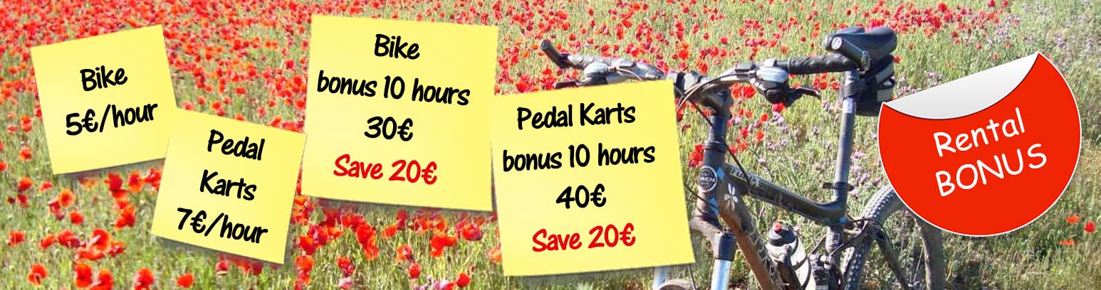 Save with our bonus of hours for bikes and karts