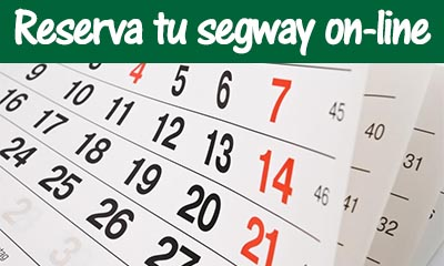 Reserva tu segway on-line